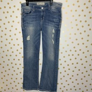 Buckle Payton Distressed Bootcut Stretch Jeans